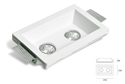 Picture of Trimless Gypsum Square Fitting (Double)